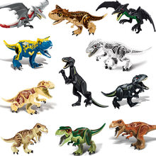 Assembled Building Blocks Toys Big Size Dinosaur World Triceratops Tyrannosaurus Children Animal Model Bricks Toy for Boys Gifts