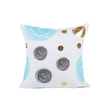 fresh style full of dot pattern blue sofa cushion cover 45*45cm no inner hot stamping geometric pillow X19