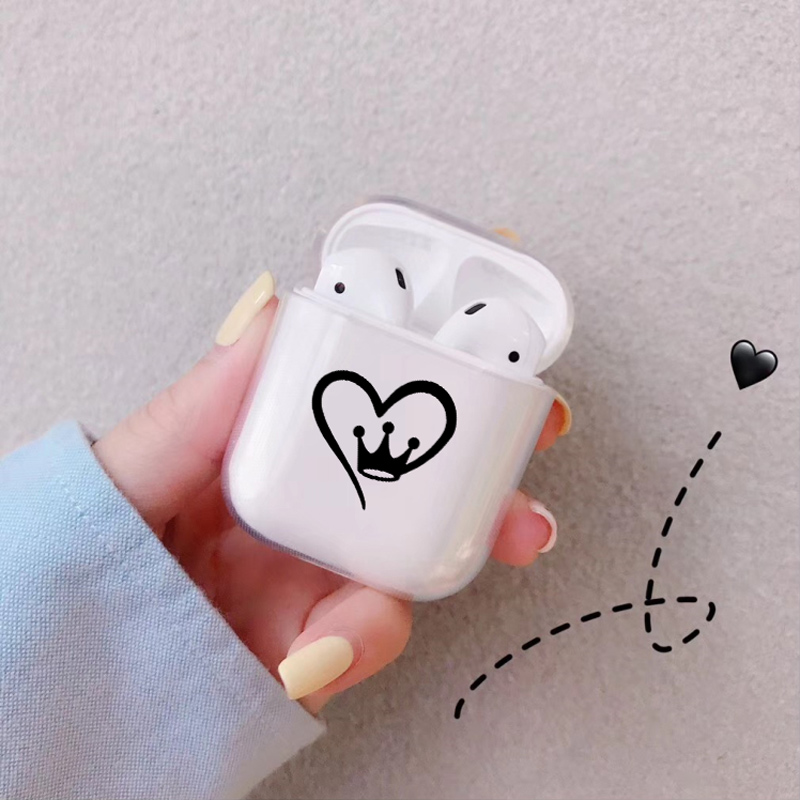 Soft Cute Air Pods Case For Apple airpods Case Luxury Crown King Queen Airpods Case in Bluetooth Earphone Accessories Cover in Earphone Accessories from Consumer Electronics
