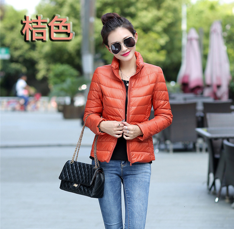 2019 Uniqlo Of Home Frivolous Fund   Down   Jackets Woman Short A Stand Lead Self-cultivation Thin Loose   Coat   Tide