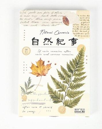 A151- Natural World Paper Postcard(1pack=18pieces)
