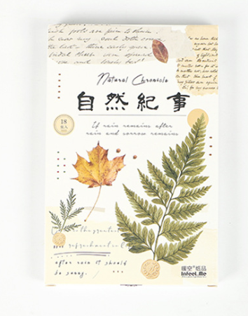 P96- Natural World Paper Postcard(1pack=18pieces)