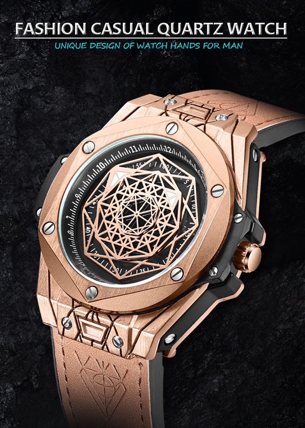 ONOLA brand fashion cusual quartz watch men 2019 new unusual unique waterproof wrist watch male style designer relogio masculino