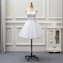 Vestido де noiva 2020 Новый Белый короткие кружева свадебные платья линия дешевые свадебное платье простой халат Mariée кружева абие одежды OW20Y
