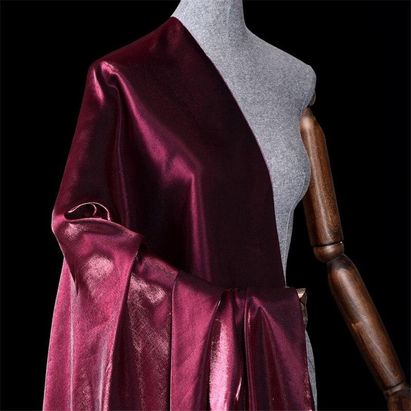 Su Fuer glazed gloss purple magic color tencel cotton fabric cotton linen satin shirt dress cheongsam clothing fabric 36-1