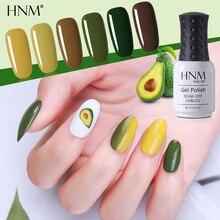 HNM новейший 8 мл авокадо УФ-гель для ногтей Narl Art Soak Off Гибридный лак светодиодный полуперманентный лак Лаковая эмаль