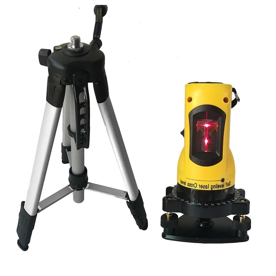 Открытый режим штатив лазерный уровень метр 360 градусов самонивелирующийся 2 линии 1 точка Горизонтальный Вертикальный Slash функциональный с...