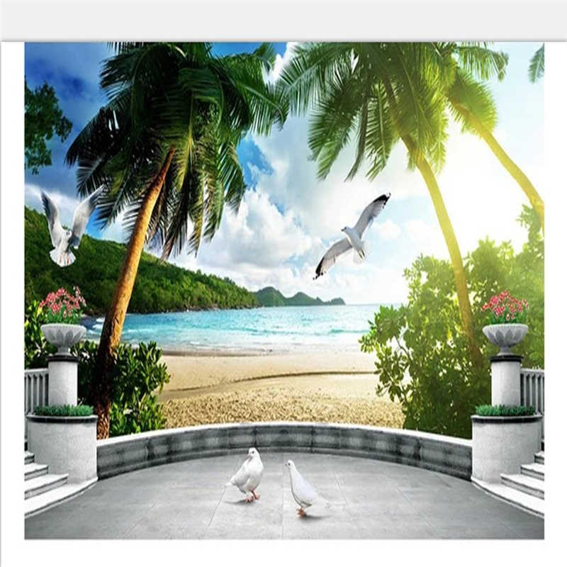 Custom Photo Wallpaper 3D Ocean European Landscape 3D Living Room TV Background Wall Decoration Mural Wallpaper