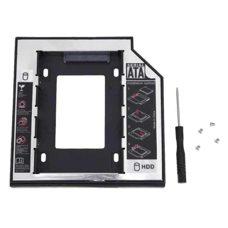 Aluminium Kunststoff 12,7mm für 2,5 zoll SATA SSD Fall Festplatte Gehäuse Bay Laptop CD-ROM Disk Drive Halter