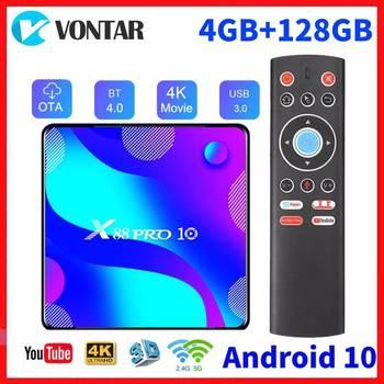 Android 10.0 Smart TV Box RK3318 Google Android 10 TVBOX Media Player 4GB RAM 128GB ROM Youtube 4K Set Top Box 2G16G
