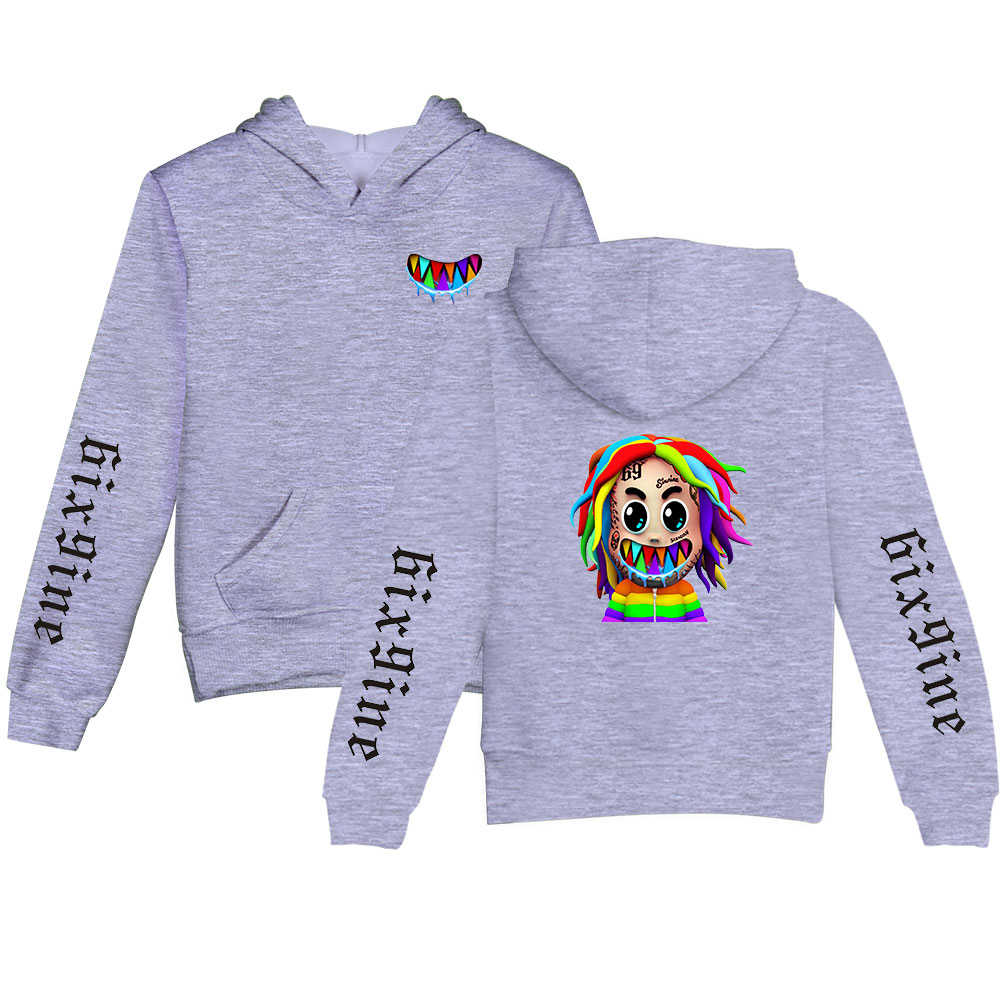 Silver Basic Girls Fashion Hoodie New Album Gooba Hoodie 6ix9ine Pullover Jumper Sweatshirt Tekashi69 Hoodie
