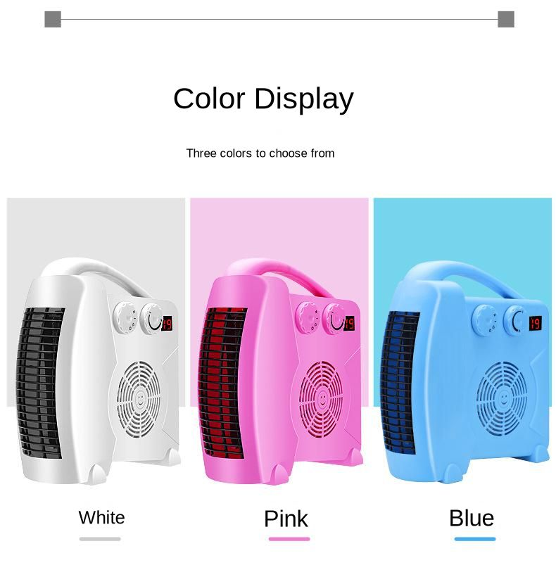 Household Mini Heater Heater Electric Heating Wind Movable Small Air Conditioning Cooling and Heating Dual purpose Bathroom Power Tool Accessories     - title=