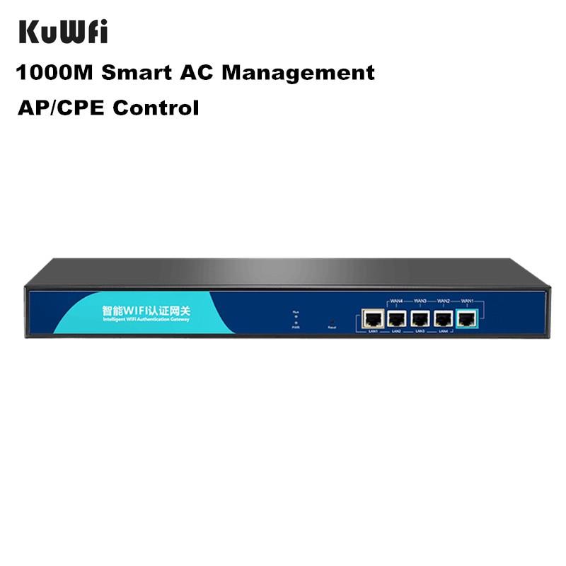 KuWfi 1000M Smart Core Gateway AC Management Wireless AP/CPE/Switch Controller 4 Port POE Supply AC Management Wi-fi Router