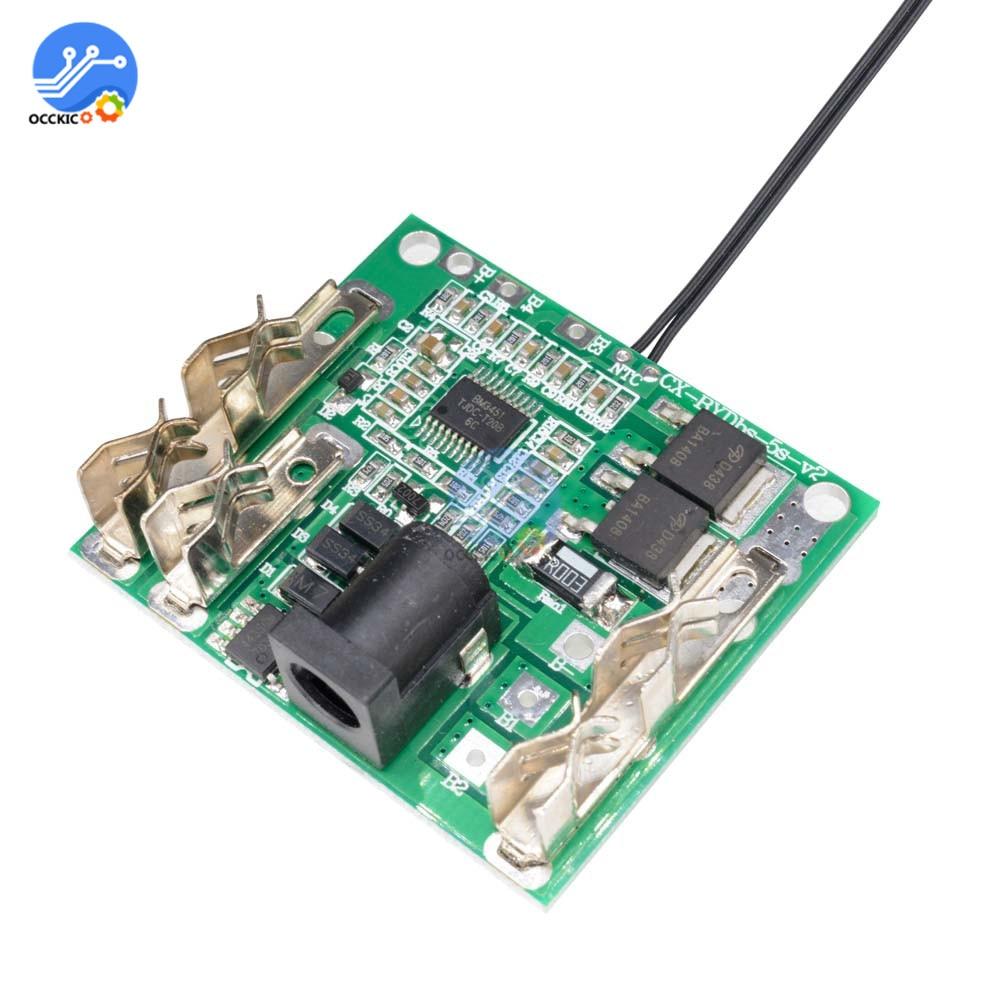 Li-Ion Lithium Battery Charging Protection Board Protection Circuit Board BMS 5S Module Adaptador Enchufe Universal Balancer