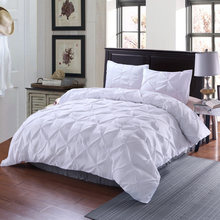 High Quality new design girls adult 2/3 pieces duvet cover white black gray comforter single full size bedding set luxury(China)