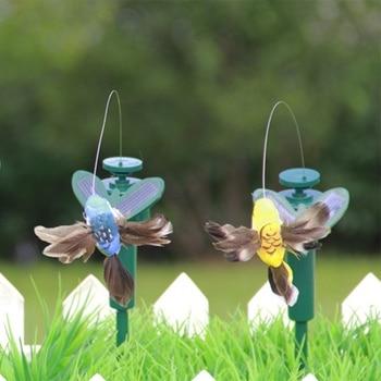Funny Solar Toys Flying Fluttering Hummingbird Powered Birds Butterflies for Garden Decoration Baby Toy Random Color