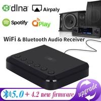 Inalámbrico receptor de Audio y wi-fi para Airplay Spotify DLNA NAS Multiroom sonido corriente Bluetooth 5,0 caja de música adaptador óptico WR320