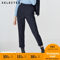 SELECTED Women's Wool blend Plaid Casual Crop Pants SIG|418418504
