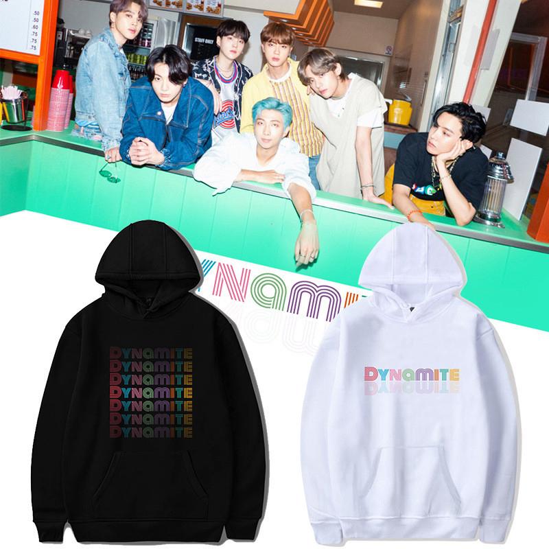KPOP Bangtan Boys New Album Dynamite Printing Hoodies Long Sleeve Spring Autumn Clothing JIMIN JIN SUGA J-HOPE Fans Collection
