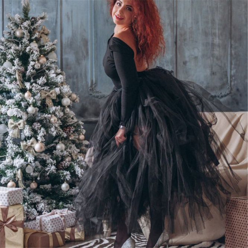 Image 3 - 100cm Length Wedding DIY Skirt Tulle Overskirt Sexy Pleated  Fashion Handmade Woman Tutu Female Long Skirt Lolita Saia Longawedding  skirt tullewomen tutuskirt tulle