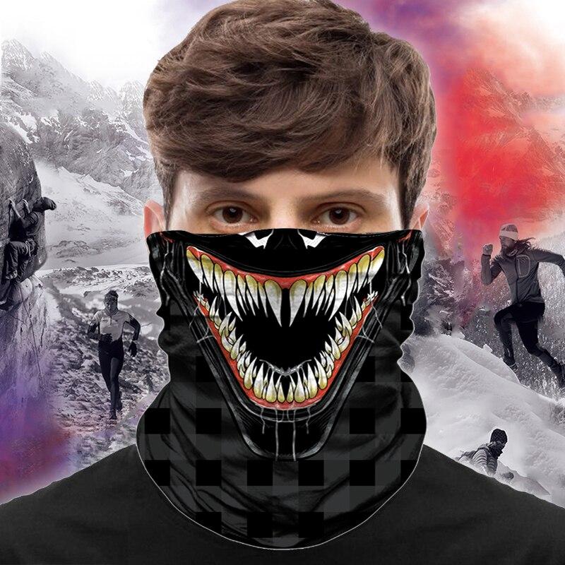 3D Venom маска-Бандана Buff военный шеи гетры в клетку Брага куэль охота Походный шарф быстрое высыхание Зимний велосипед