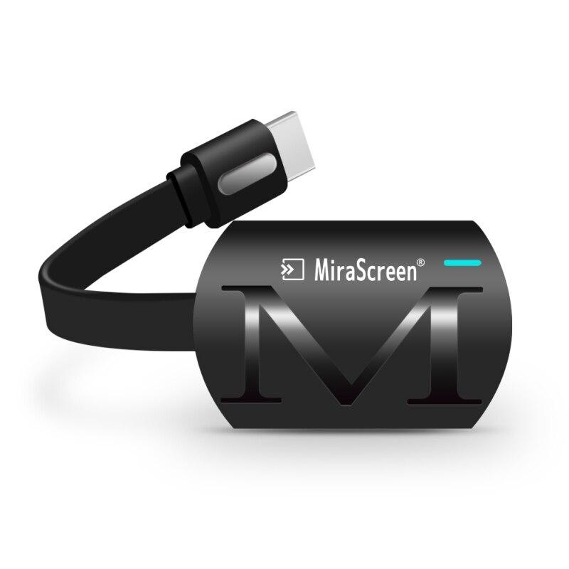Czarny MiraScreen G4 klucz sprzętowy do tv Anycast obsada hdmi wifi Miracast na Google Chromecast 2 Mini PC android tv