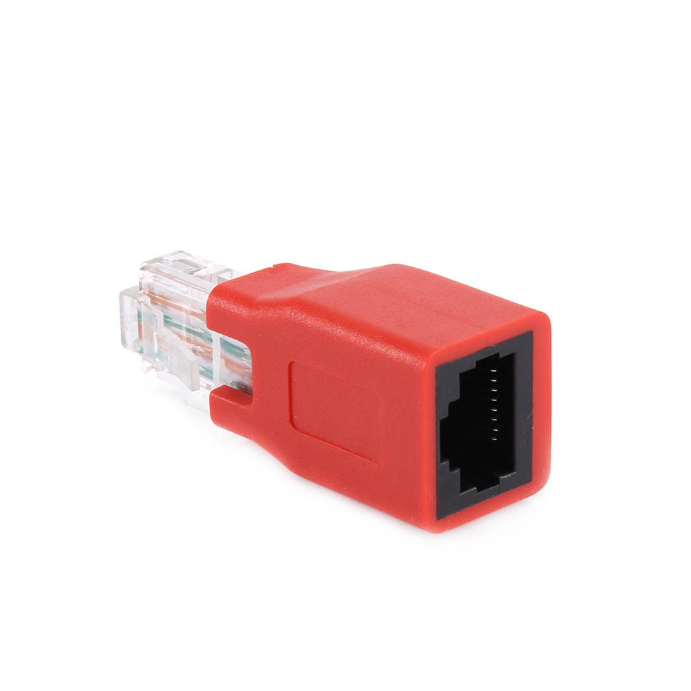 RJ45 Male to Female Ethernet LAN Network Adapter Crossover Connector Red