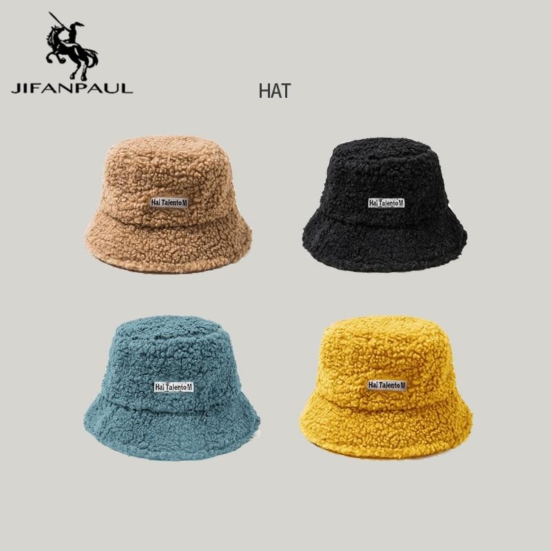 JIFANPAUL-sombreros de pescador para exteriores, protección solar, sombrero de cubo plegable, de lana gruesa, para invierno y otoño