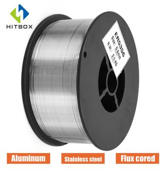 HITBOX z drutu ze stali nierdzewnej aluminium drut pokryty topnikiem drutu Mig drut lity 0 8mm spawanie gazowe drutu 1 rolki 0 5 1 0KG tanie i dobre opinie CN (pochodzenie) Gas MIG Welding STAINLESS STEEL Aluminum stainless steel wire 0 5 1kg
