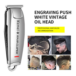 Image 1 - Kemei 2812 Hair Clipper 0mm Electric Hair Trimmer Professional Haircut Shaver Carving Hair Beard Trimmer Machine Styling Tools