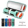 2 в 1 камуфляжная EVA жесткая Портативная сумка для хранения + Мягкий силиконовый чехол для JBL Flip 4 Bluetooth динамик чехол для JBL Flip 4 колонка