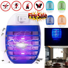 1/2/4Pcs 4Colors Electric UV Mosquito Killer Indoor Insect Fly Bug Pest Plug in Trap Zapper Anti-Mosquito Lamp US EU Plug(China)