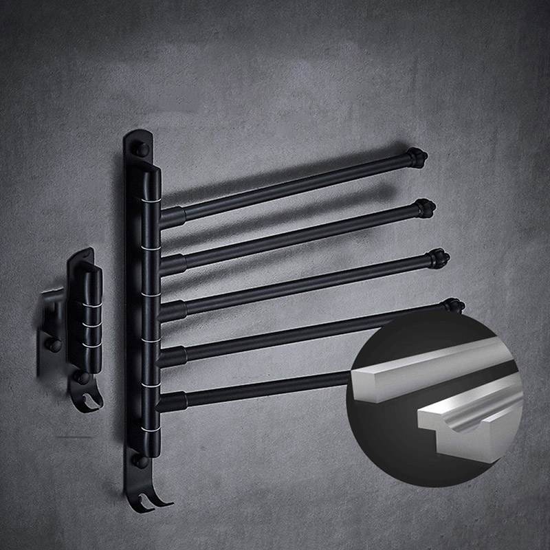 Newly Wall Mounted Towel Rail Holder Stainless Steel Swivel Rack For Bathroom Kitchen MK