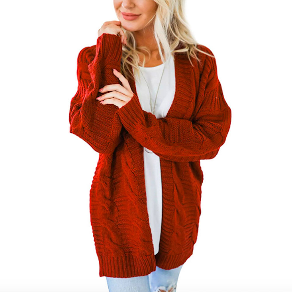 2020 Autumn Twist Long Sleeve Cardigan Feminino Loose Sweater Women Spring Plus Size Knitted Cardigan Women's Sweater Outerwear