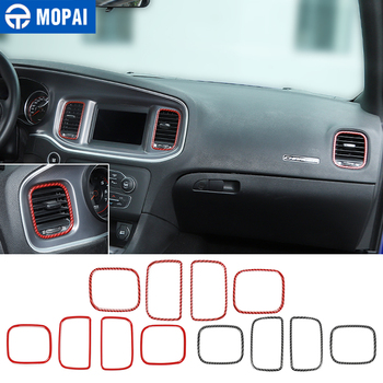 MOPAI Car Center Console Air Conditioner Vent Outlet Decoration Cover Stickers for Dodge Charger 2011+ Interior Accessories for honda crv cr v 2012 15 16 hight match center console switch button cover air conditioner outlet vent covers accessories 1pcs