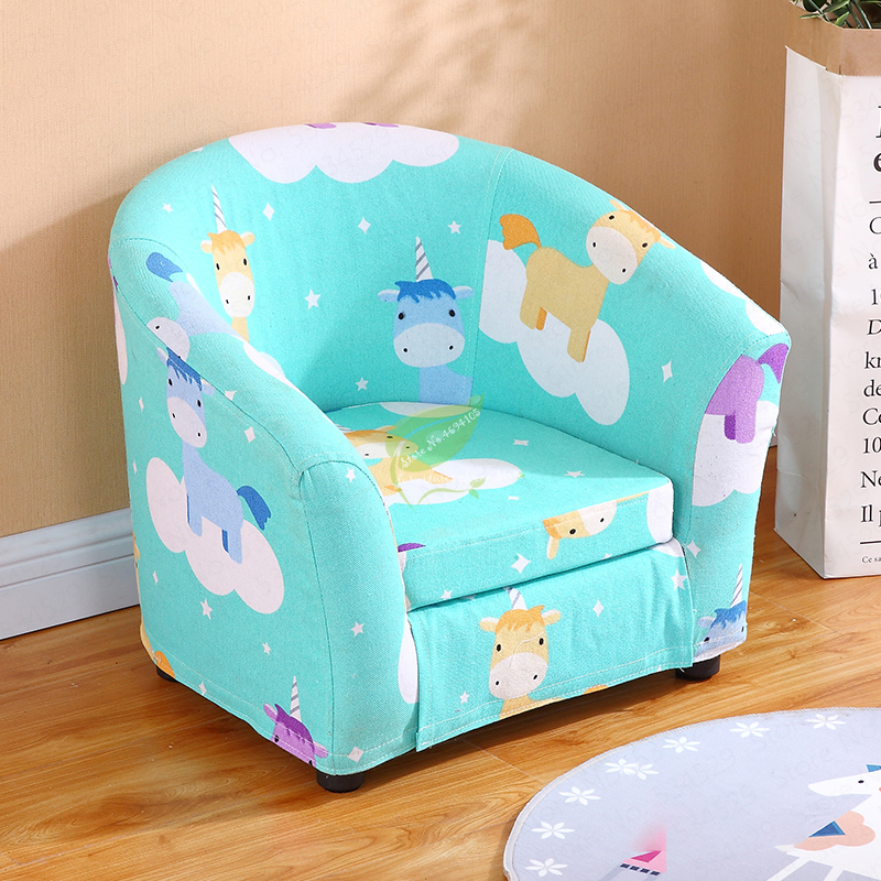 Children's Sofa Cartoon Girl Princess Single Kindergarten Seat Cartoon Washable Cloth Cute Baby Small Sofa Kids Chair Gift