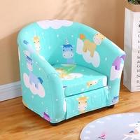 Sofá das crianças dos desenhos animados da menina princesa único assento do jardim de infância dos desenhos animados pano lavável bonito do bebê pequeno sofá crianças cadeira presente|Sofás infantis| |  -