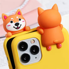 3D Doll Dog Cat Funny Case For iPhone XR 11 Pro XS Max X SE 2 2020 5 Silicone Lovely Cover For iphone 8Plus 7 8 6 S 6S Plus Case