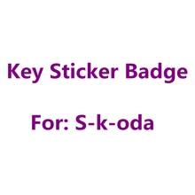 5 шт., металлические или эпоксидные, черные, серебристые, зеленые, 14 мм, 10 мм, 8 мм, автомобильные Стайлинг, аксессуары, Эмблема Для Skoda, Автомоби...