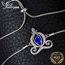 キャリッジ作成サファイアboloブレスレット腕輪 925 スターリングシルバー宝石の女性のシルバー 925 ジュエリーメイキング