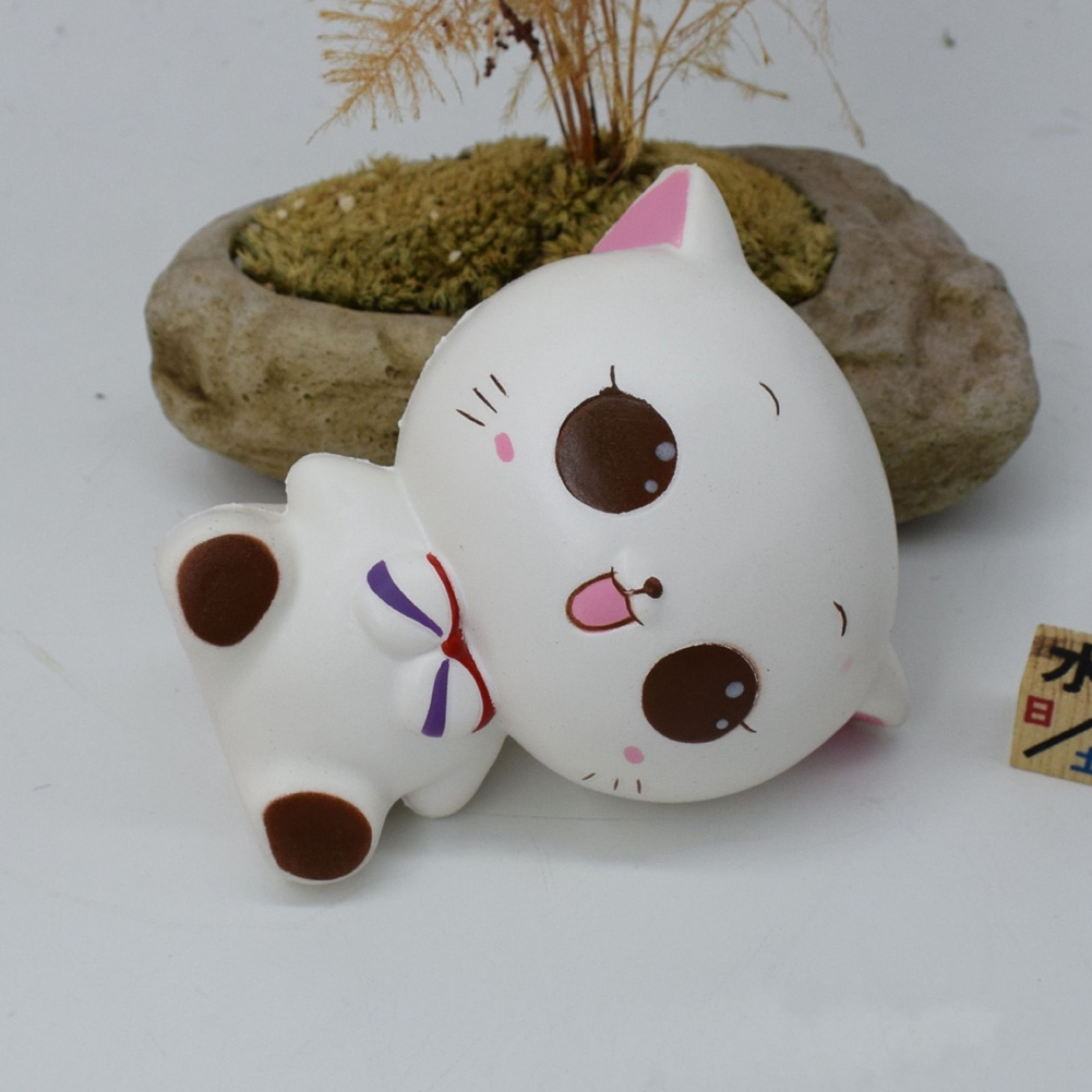 Fun Cute Cartoon Milk Box Cat Animals Bread Buns Cream Food Decor Slow Rising Kid Toy Squeeze Relieve Gift Pretty Goods