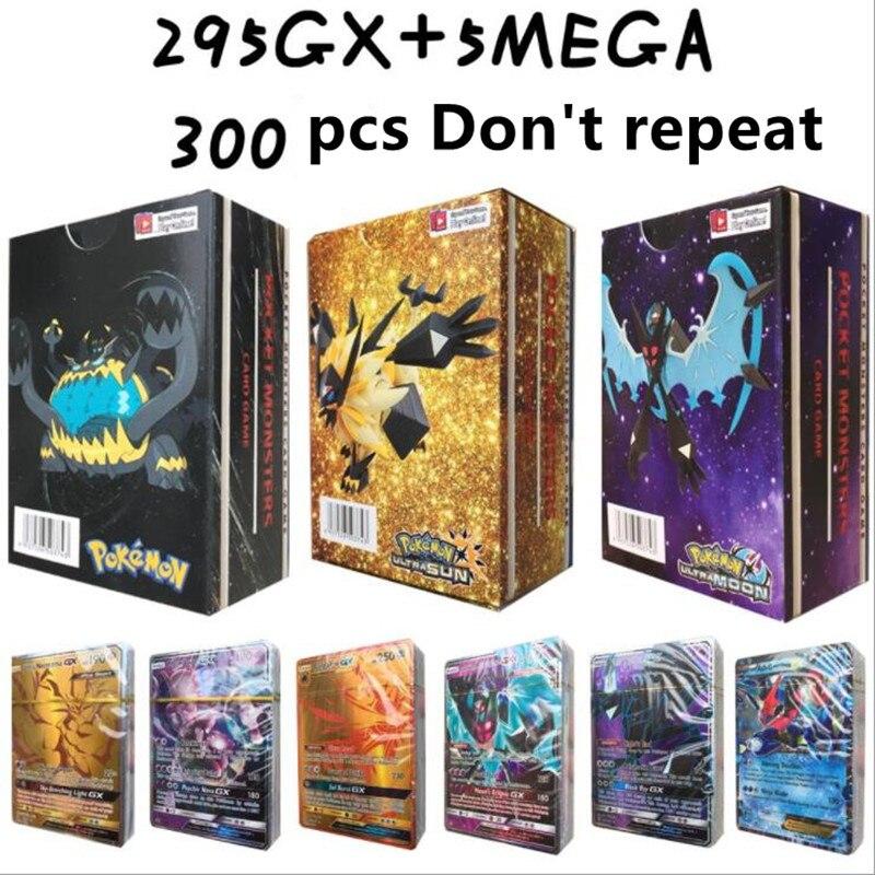 300 шт GX 20 60 100 шт Мега Сияющие карты игра битва карт торговые карты игра детская игрушка «Покемон» - Цвет: 300pcs GX