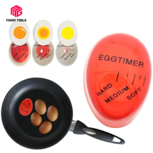 Mini 1pcs Color Changing Timer Yummy Soft Hard Boiled Eggs Cooking Kitchen Eco-Friendly Resin EggTimer Red Timer Tools