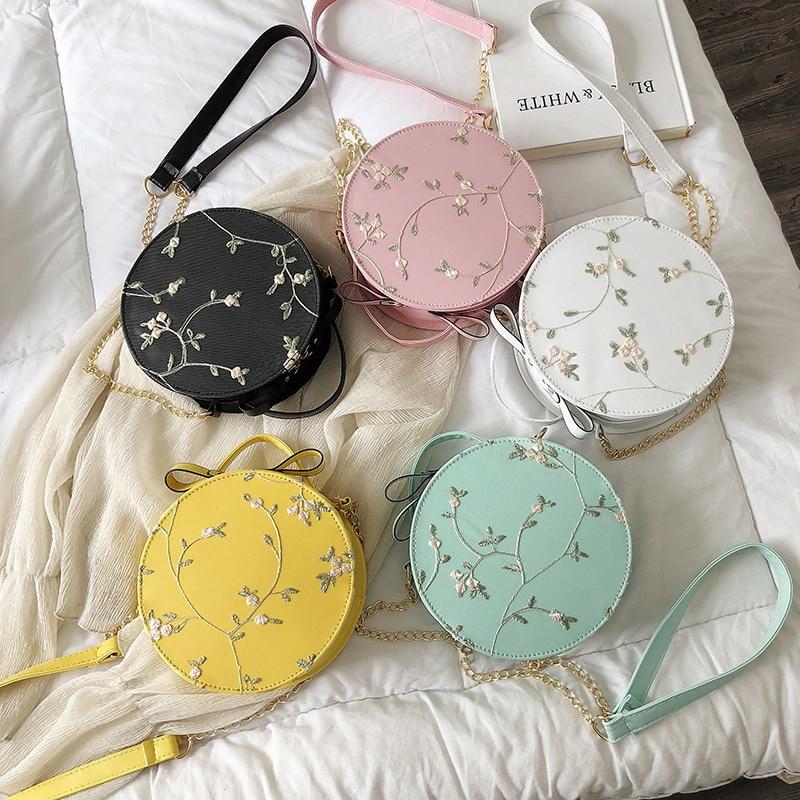 Women Bag Summer Lace Embroidered Shoulder Bag 2020 New Diagonal Bag Chain Crossbody Bag Lady Purses And Handbags