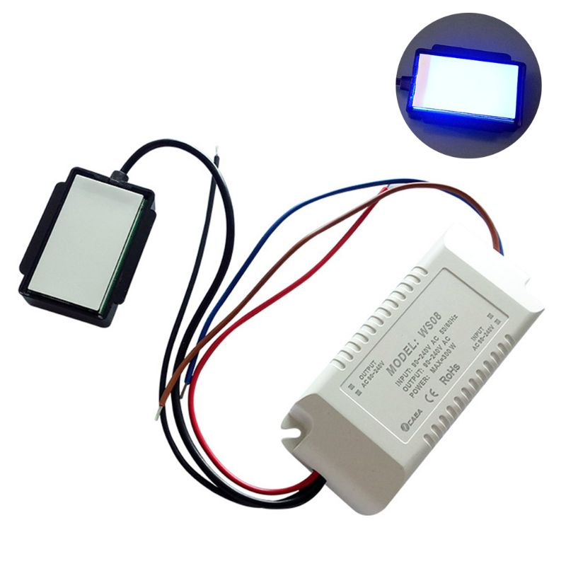Bathroom Dimmable 220V 300W Mirror On/Off Touch Switch Anti-fog For Lamp Lighting Home Intelligent System Human Sensor