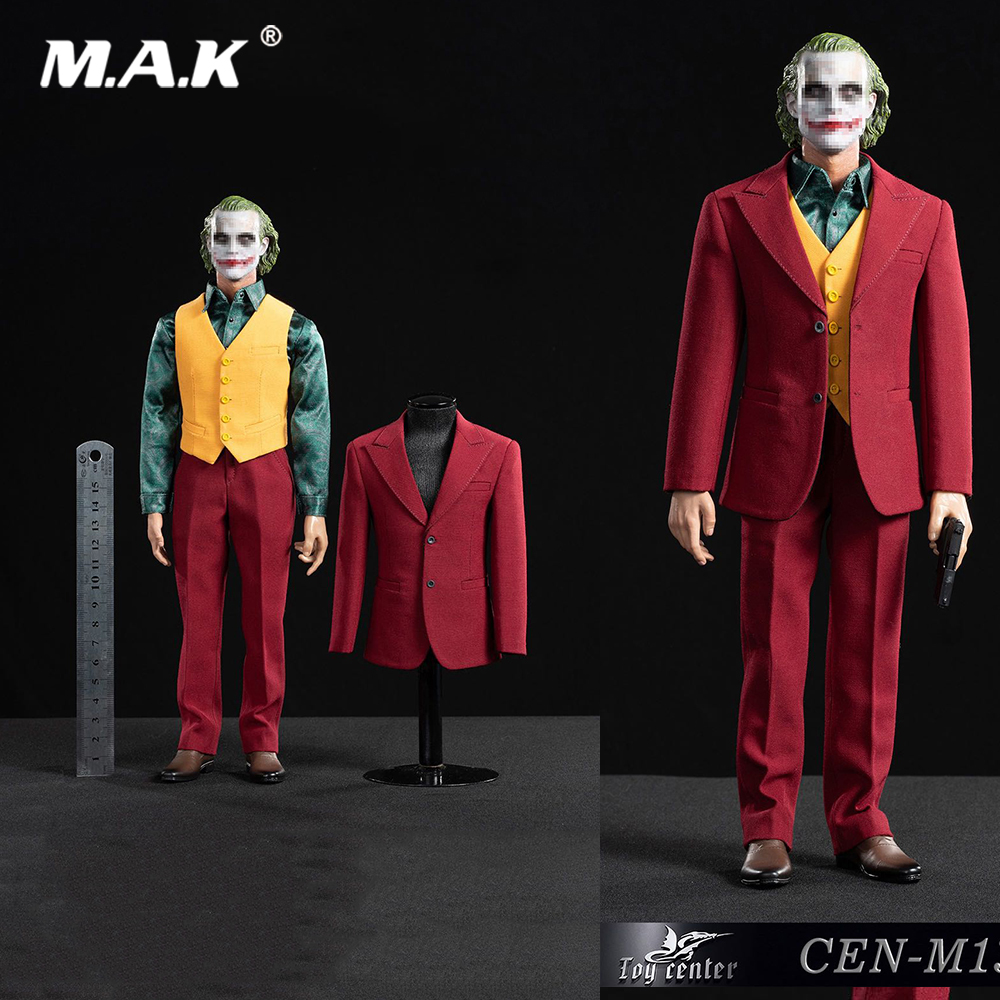 In Stock CEN-M13 1/6 Male The Comedian Joker Clown Joaquin Exclusive Red Suit Clothes Set Model For 12'' Narrow Shoulder Body