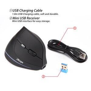 Image 5 - Drahtlose Maus Vertikale Maus Ergonomische Optische 2400 DPI 6 Tasten ergonomische Mause für Windows MAC OS für computer laptop