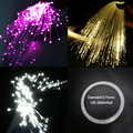 Пластиковый волоконно-оптический кабель конец свечения 0 75 мм диаметр 100-300 м/рулон ПММА светодиодный светильник Прозрачный сделай сам для Led...