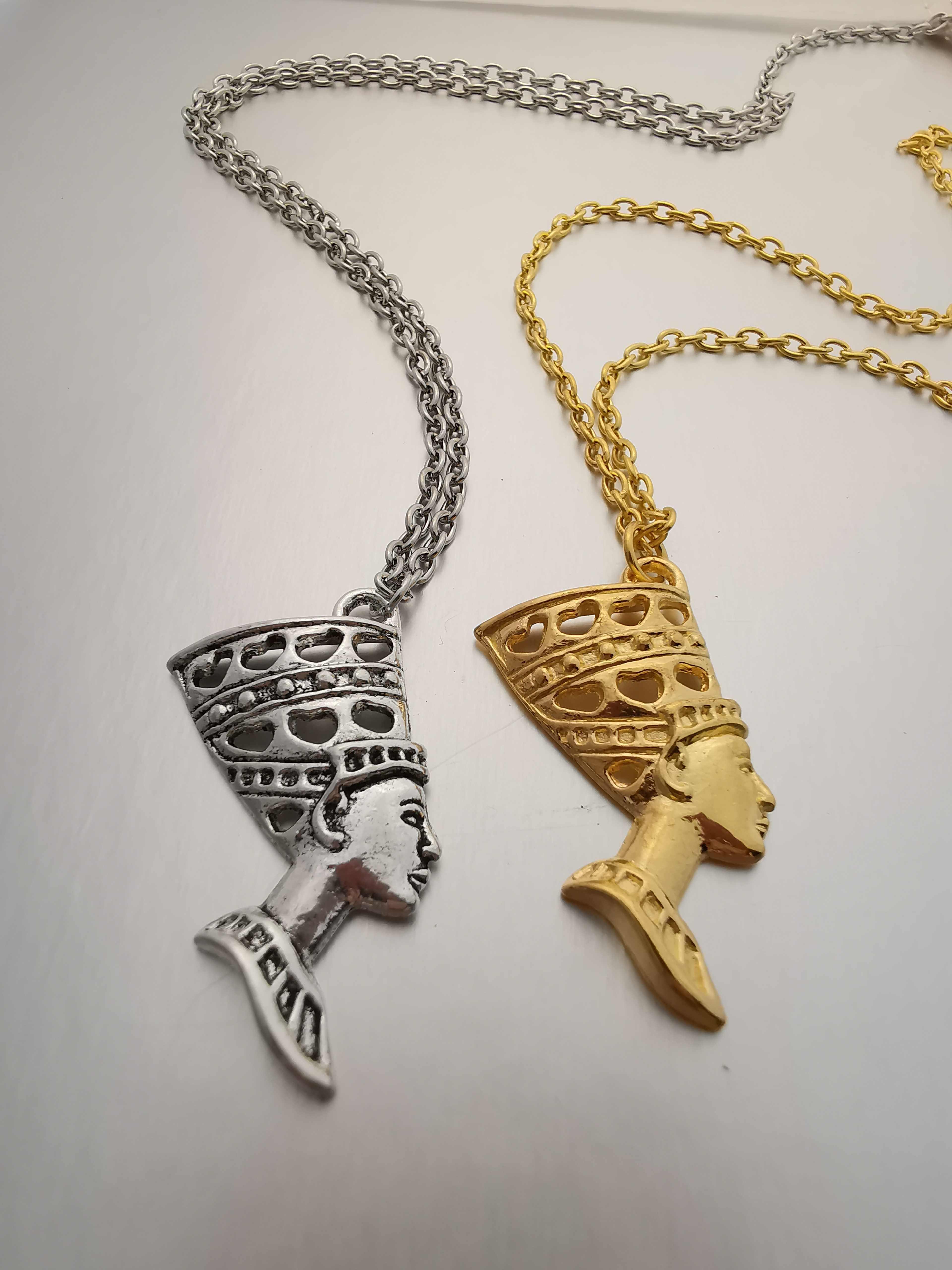 Ägyptische Ägypten Königin Nofretete Halskette Für Frauen Gold Charms Anhänger Halskette Mode Schmuck Weihnachten Geschenk
