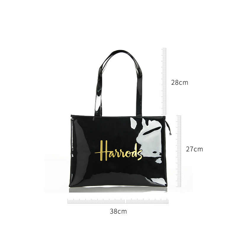 Horizontal Edisi Pvc Dapat Digunakan Kembali Tas Belanja Ramah Lingkungan London Wanita Shopper Tas Kapasitas Besar Tahan Air Tas Tangan Tas Bahu